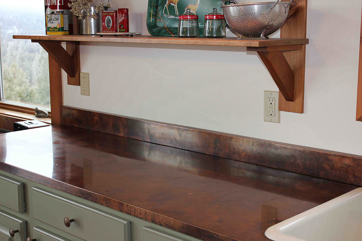 Kitchen counter design options jackie syvertsen Copper countertops cost