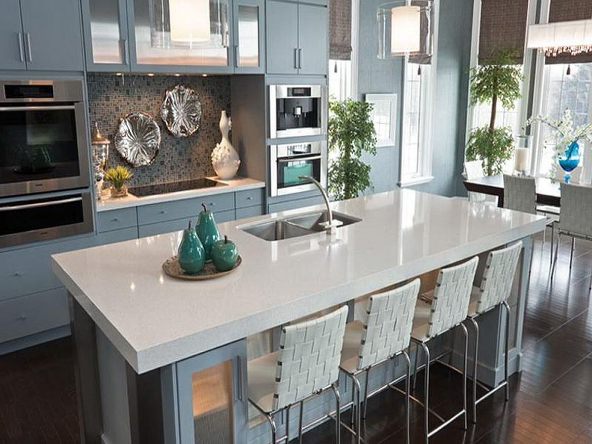 Kitchen counter design options jackie syvertsen What is the whitest quartz countertop